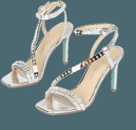 Betsey Johnson SB-Asher - Silver Heels - High Heel Sandals - Lulus