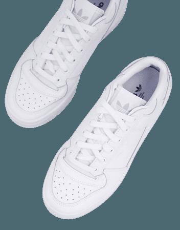 adidas Originals Forum Bold sneakers in triple white | ASOS