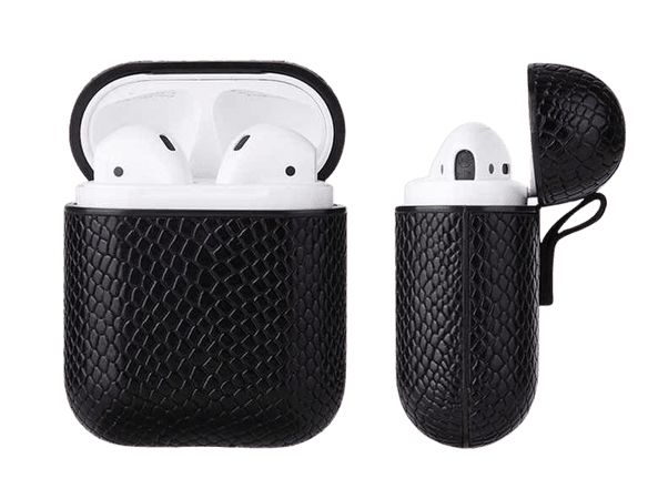 *clipped by @luci-her* Custom Python Sleeve For Apple Airpod Bluetooth Wireless Earpphone Snake PU Leather Case Cover For Air Pod 1 2 Funda Cover Box    - AliExpress