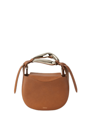 Kiss Small Leather Tote - Brown