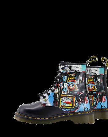 Dr Martens x Basquiat 1460 8 eye ankle boots in black   ASOS