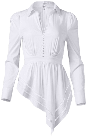Asymmetrical Blouse in White   VENUS
