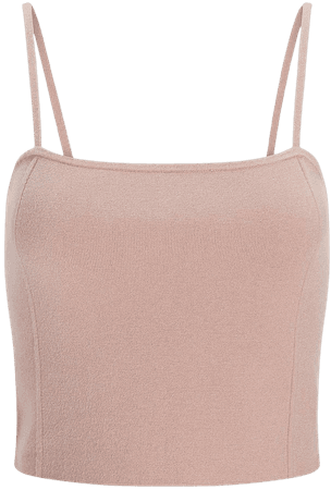 Cropped Square Neck Sweater Cami | Express
