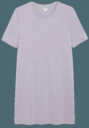 Super-soft t-shirt dress - Lilac - Mini dresses - Monki WW