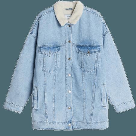 Oversized denim jacket - Outerwear - Woman   Bershka