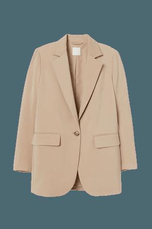 Straight-cut Jacket - Beige - Ladies | H&M US