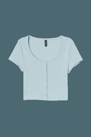 Short Jersey Top - Turquoise - Ladies | H&M US
