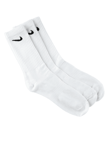 NIKE 3 Pack Everyday White Mens Crew Socks - WHITE - SX7676-100 | Tillys
