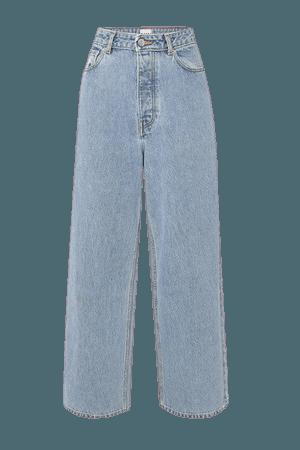 Net Sustain High-rise Wide-leg Jeans - Light denim