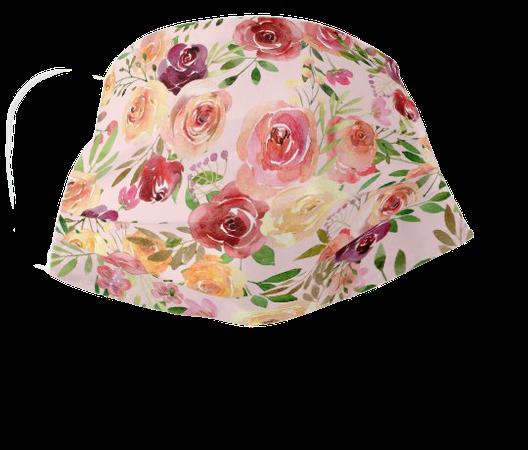 Pretty Peach Peony Floral Cloth Face Mask   Zazzle.com