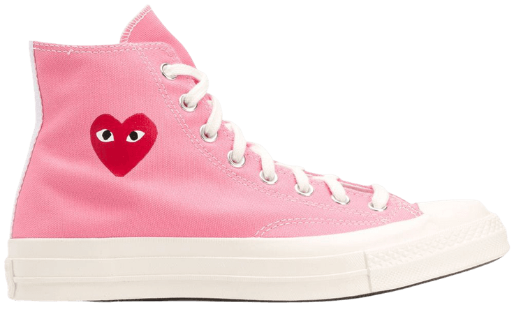 Shop pink Comme Des Garçons Play x Converse Chuck 70 high-top sneakers with Express Delivery - Farfetch