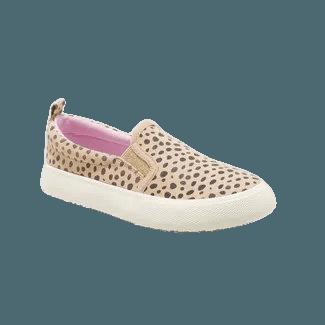 Girls' Agnesa Leopard Spot Slip-On Sneakers - Cat & Jack™ Brown : Target