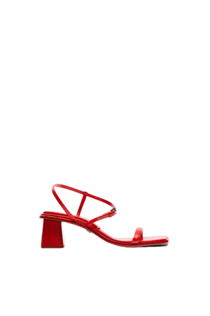LEATHER SANDALS WITH STRAPS | ZARA United States