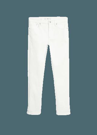 Coated isa crop skinny jeans - Women   Mango United Kingdom