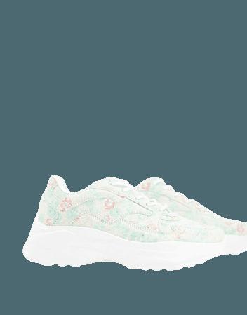 ASOS DESIGN Degree chunky sneakers in floral | ASOS