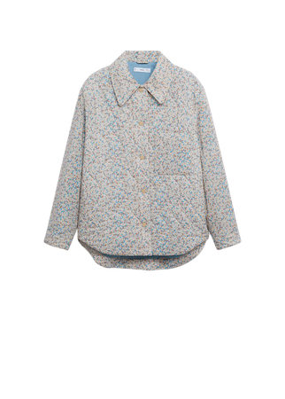 Printed quilted jacket - Women   Mango USA
