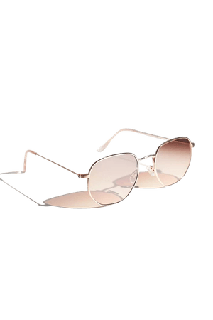Chleo Metal Hexagon Sunglasses   Urban Outfitters