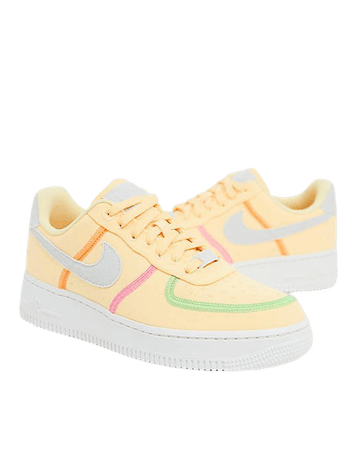 Nike Air Force 1 '07 LX canvas sneakers in yellow   ASOS