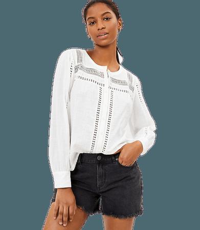 Lace Trim Blouse | LOFT