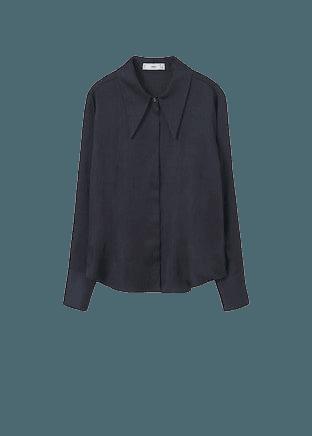 Camp-collar shirt - Women | Mango USA