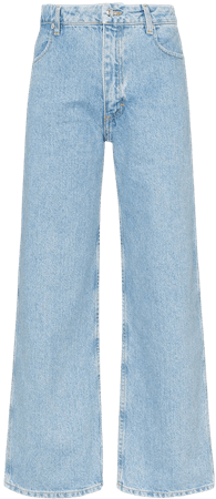 Shop Eckhaus Latta cropped straight leg jeans with Express Delivery - FARFETCH