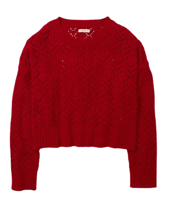 AE Pointelle Crew Neck Sweater