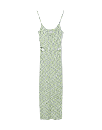 Space dye dress with cut-out side detail - Dresses - Woman | Bershka
