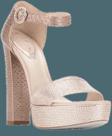René Caovilla crystal-embellished platform sandals