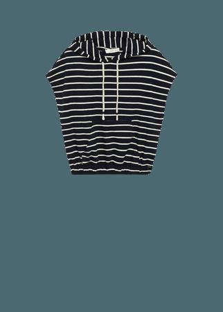 Striped cotton-blend sweatshirt - Women   Mango USA