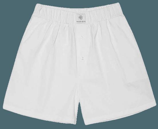 ANINE BING Liam Boxer Short - White