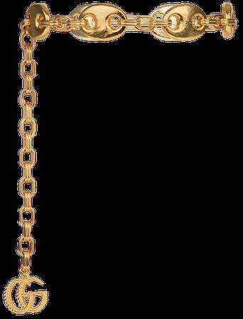 Gold Metal Textured Marina chain belt | GUCCI® US
