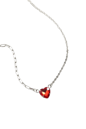 Rhinestone Heart Necklace | Urban Outfitters