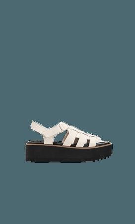 Flat cage sandals - Women's Just in | Stradivarius United States