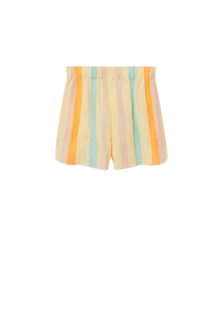 Cotton striped shorts - Women | Mango USA