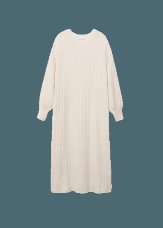Ribbed midi dress - Women   Mango USA