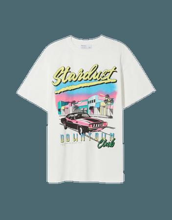 Short sleeve Stardust T-shirt - Tees and tops - Woman   Bershka