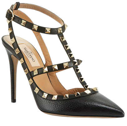 Valentino Garavani Rockstud Leather Caged Pump | Neiman Marcus