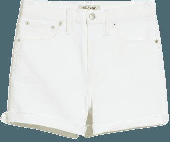 Women's High-Rise Denim Shorts in Tile White | Madewell