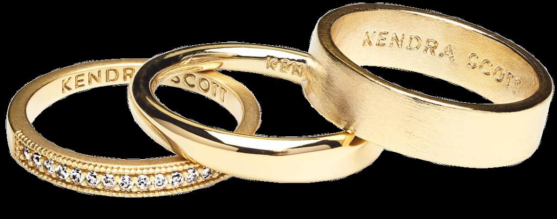 Tate Midi Ring Set in Gold | Kendra Scott