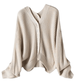 'Connie' Ribbed Knit Slouchy Button Cardigan (2 Colors) - Goodnight Macaroon