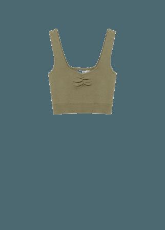 Ruched detail top - Women | Mango USA