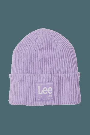 Rib-knit Hat - Purple