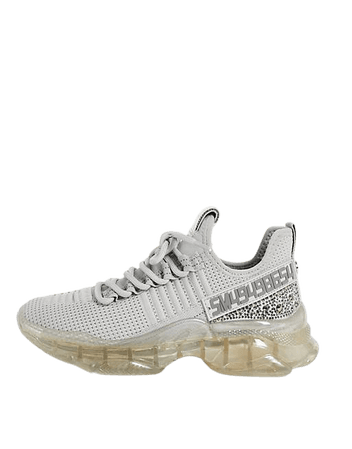 Steve Madden Maxima chunky sneakers in gray | ASOS