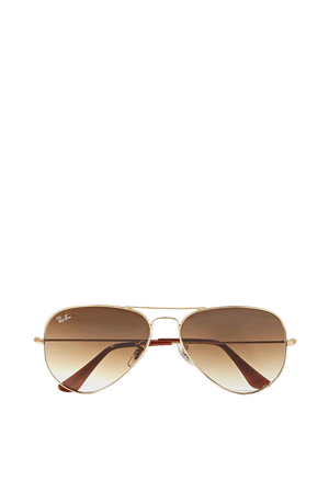 Gold Aviator gold-tone sunglasses | Ray-Ban | NET-A-PORTER