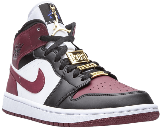 Shop red & black Jordan Air Jordan 1 Mid sneakers with Express Delivery - Farfetch
