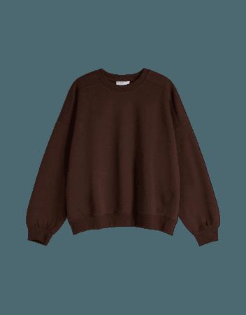 Oversized sweatshirt - Sweatshirts and hoodies - Woman | Bershka