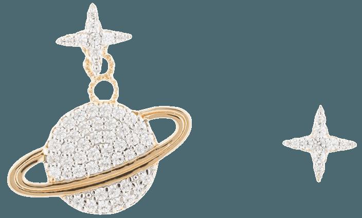 APM Monaco Wonderland planet mismatch earrings - FARFETCH