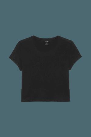 Cropped t-shirt - Black - T-shirts - Monki WW