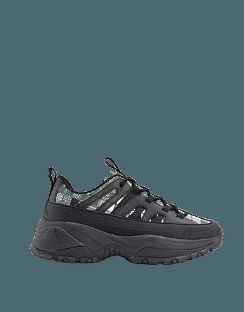 ASOS DESIGN Destiny chunky sneakers in check | ASOS