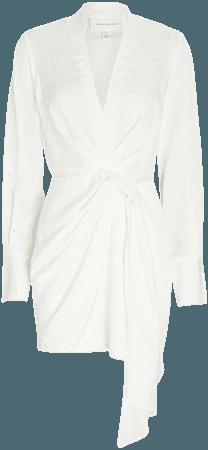 Significant Other Amalfi Draped Long Sleeve Mini Dress   INTERMIX®